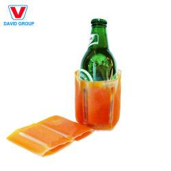 휴대용 PVC 와인 아이스 백 와인 파우치 쿨러 백(포함 와인 병을 위한 아이스백 취급
