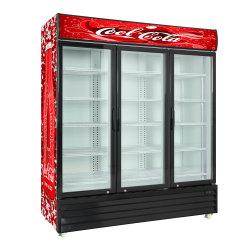 Commercia Hotel Refrigeratorl compresor Puerta 3 Enfriador de bebidas con ventilador de refrigeración