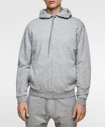 Custom худи мужчин 100% хлопок мужские члены экипажа горловины в удлиненной худи Sweatshirt