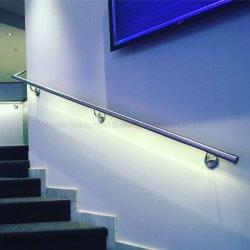 Nueva llegada la luz LED luminoso de vidrio sin cerco Baranda balaustrada de la Escalera de acero inoxidable pasamanos con base en aluminio con revestimiento de Ss de sistema de zapata