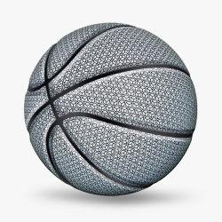 Brilho luminoso de produtos desportivos no basquetebol Bola Escuro