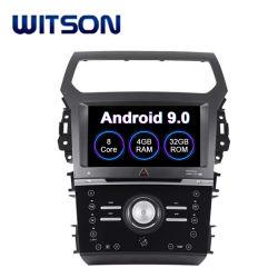 Speler DVD van de Radio van Auto 9.0 van Witson de Androïde Stereo voor GPS van de Navigatie van het Voertuig van hand-Aircondition van de Ontdekkingsreiziger van de Doorwaadbare plaats