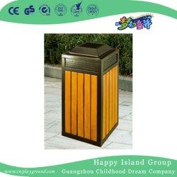 옥외 안뜰 나무로 되는 정연한 쓰레기통 (HHK-15104)