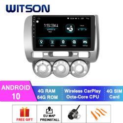 Witson Android 10 DVD Car Player für Honda 2006-2008 Fit RHD 4GB RAM 64GB Flash großer Bildschirm in Auto DVD Player