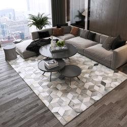 고급 카우hide patchwork 가죽 카펫 가죽 카펫 깔개가 적합합니다 집