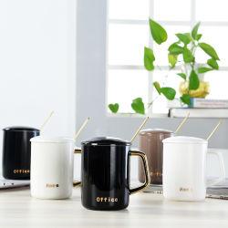 Cadeau promotionnel Magic électrique personnalisé vide Marché de la bière en émail blanc Coupe de la photo de verre DIY grès porcelaine de thé de Sublimation de voyage tasse à café en céramique