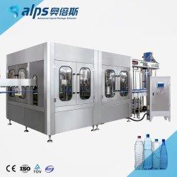 완전 자동 미네랄 워터 순수 식수 액체 병 충전 및 포장 기계