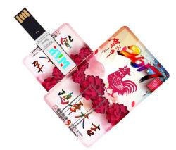 플라스틱 상자 USB 섬광 드라이브 1GB-128GB USB 섬광 드라이브 신용 카드