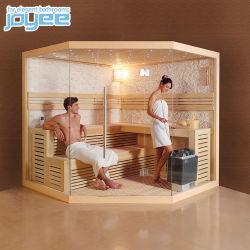 Joyee Big Size La forme en diamant Indoor Sauna Sauna traditionnel en bois de peuplier de pruche chambre pour 2 4 personne
