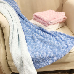 OEM 2-laags dikke geborstelde PV Fleece Sherpa Eco Baby Hold Fuzzy pluche Fleece Blanket