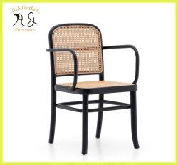 أنيق مطعم أثاث لازم [ويكر] طبيعيّة خشبيّة يتعشّى كرسي ذو ذراعين