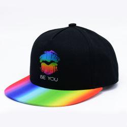 大人の方法綿によって印刷される帽子の急な回復の帽子のためのカスタム平らな帽子