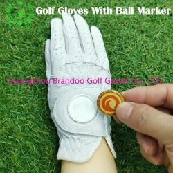mit Kugel-Markierung Golf-Handschuhen der vielseitigen haltbaren Cabretta ledernen Männer