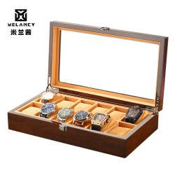 Moda reloj de madera Caja de almacenamiento
