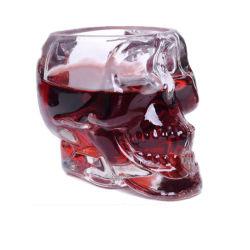 3D Transparante Creatieve Schedel Ontsproten HoofdKop van het Kristal van het Glas voor de Staaf van het Huis van de Whisky