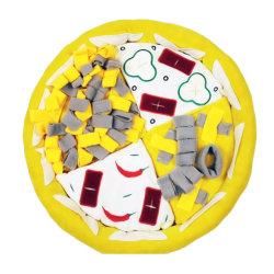 Juego Interactivo perro duradera perro de juguete mastique Pizza Squeaky juguetes Peluches con Bb llamada