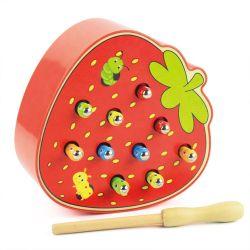 La primera infancia juguetes educativos atrapar gusanos Juego 3D Puzzle madera juguete magnético para niños