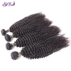 Kinky Afro el cabello rizado el cabello humano mayorista de paquetes de trama Virgen Raw cabello humano.