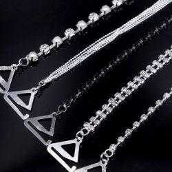 새로운 형식 금속 모조 다이아몬드 브래지어 결박 공장 제안