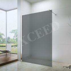 걸어가는 회색 실크 잔디 크롬 알루미늄 프레임 샤워 스크린 (EX-101)