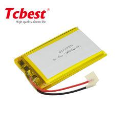 Navulbare Batterijen 803759 de Batterij Li-Po 803759 van de Batterij 3.7V 2000mAh van het Polymeer van het Lithium Batterij van het Herladen van Lipo 2000mAh van de Batterijen van het Lithium de Ionen3.7V