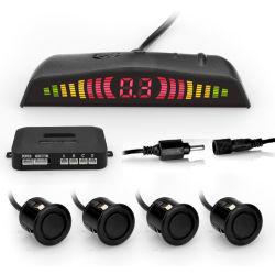 Auto LED de pantalla del Detector del sensor de aparcamiento Sistema de monitoreo de radar de copia de seguridad de marcha atrás con 4 sensores
