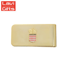 Großhandelsaktion Custom Gold Metal Hardware Gold Money Clip