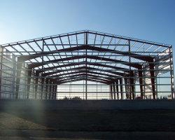 Proyecto de metal materiales de construcción de Estructura de Acero para almacén Hangar Taller Hotel Showroom