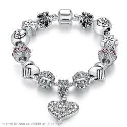 DIY pulseras de abalorios de cristal de plata regalo de joyas encanto Pulsera de mujer