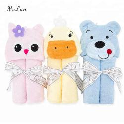 ホットフーデッドタオルスーパーソフト綿 100% / 竹繊維動物 ヘッドは赤ん坊および幼児のための Hooded 赤ん坊の浴室タオルを設計する