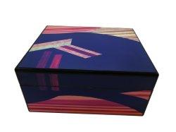 Tinta PU brilhante de alta qualidade caixa de umidor de charuto de madeira Cedar