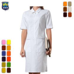 Custom elegante uniforme del Hospital Lady's vestido de enfermería
