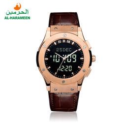 Neues Modell-Großverkauf Azan Armbanduhr Makkah Uhr für moslemische Gebet-Zeit