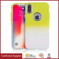 Mode dégradé de couleur TPU Téléphone Mobile pour iPhone et Samsung