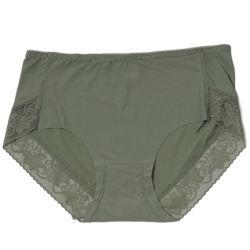 Femme mi à la taille de la hanche culotte de levage Lady dentelle florale sous-vêtements sexy fashion Solid Color Mémoires de coton doux Respirant transparente