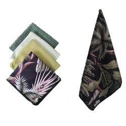 OEM-Цифровая печать ткань из микроволокна бамбук хлопок кухня блюдо салфетки, пользовательские полиэстер очки бар окно уборки в автомобиле полотенце с вышивкой логотипа