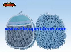 직업적인 제조 목욕 장갑 셔닐 실 Mitt 세차 Mitt (CN1414)