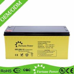12V200ah太陽エネルギーシステムのための深いサイクルのゲル電池