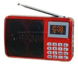 Мини-портативный радиоприемник FM радио USB устройства чтения карт SD MP3-плеер