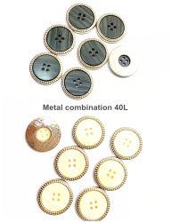 Ropa de moda, High-Grade combinación de aleación de metal botones, botones de la combinación de resina de metal, accesorios de moda, utilizado para vestir