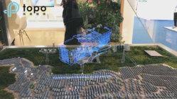 Topo浴室ミラーまたは展覧会(S-F7)のための魔法ミラーのフロートガラスまたはマジックミラーの表示