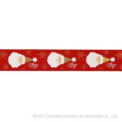 Vente chaude colorés Logo personnalisé Grosgrain Satin polyester imprimé ruban pour un emballage cadeau/l'enrubannage/décoration/Vêtements/Case des cadeaux de Noël des arcs RB13