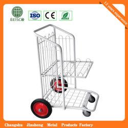 Outil d'acier de haute qualité chariot plate-forme logistique de stockage Entrepôt Troley Panier chariot