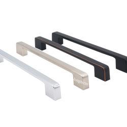 Maniglie nere moderne di tiri del portello della mobilia del hardware del cassetto dell'armadio da cucina