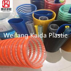 Plástico flexible de aspiración de la hélice de PVC reforzados tubo tubo espiral de descarga de la manguera de Tubería Conduit