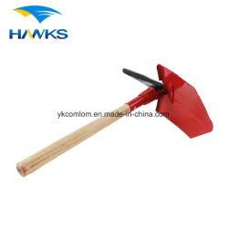 CL2T-SL302G Comlom manche en bois d'une pelle en acier avec dispositif de pliage