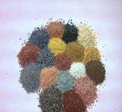 Zand van de Kleur van de fabriek het Natuurlijke voor stenen-Gelijkaardige Deklaag 40*80mesh