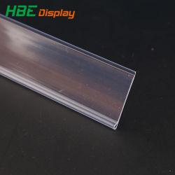 Adhésif plate bande porte-étiquettes de prix étagère Talker bandeau de données de clip en plastique PVC