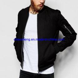 도매 까만 주문 폭격기 재킷 남자 겨울 재킷은 소매 지퍼 옥외 외투를 가진 재킷 착용을 한탄한다