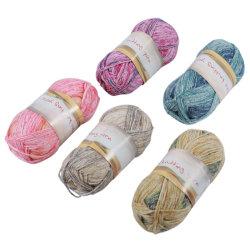 Fios de lã tricô mesclado Worsted